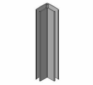 Profil PVC angle intérieur et extérieur clipsable ép.5 à 8 mm long.2,60m grey - Gedimat.fr