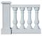Balustre BARCELONE MEDITERRANEENE ronde haut.73cm diam.16cm coloris blanc - Gedimat.fr