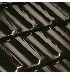Tuile H10 coloris noir brillant - Gedimat.fr