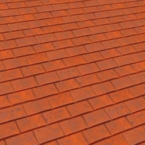Tuile châtière passe-barre PLATE 17x27 + grille coloris rouge nuance - Gedimat.fr