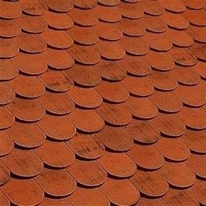 Tuile et 1/2 droite ALSACE LISSE 16x38 droite coloris rouge ancien - Gedimat.fr