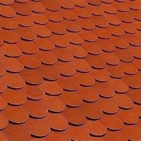 Tuile et 1/2 droite ALSACE LISSE 16x38 droite coloris rouge - Gedimat.fr