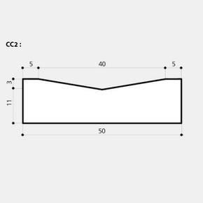 Caniveau béton CC2 larg.50cm haut.14cm long.1m classe T coloris gris - Gedimat.fr