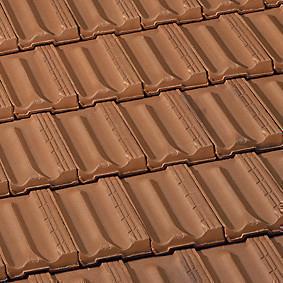 Tuile à douille MARSEILLE diam.120mm coloris brun rustique - Gedimat.fr