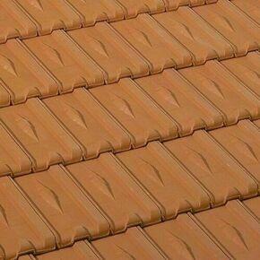 Demi-tuile en terre cuite LOSANGEE coloris rouge - Gedimat.fr