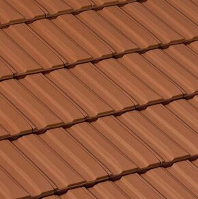 Tuile en terre cuite BELMONT coloris rouge naturel - Gedimat.fr