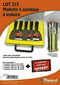 Couteau acier - mallette de 5 pièces - Gedimat.fr