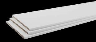 Tablette mélaminée CONFORT Long.2,50m larg.50cm Ép.18mm Coloris blanc - Gedimat.fr