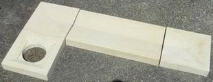 Caniveau en pierre reconstituée INSTONE angle dim.30x30cm ép.5cm miel clair - Gedimat.fr