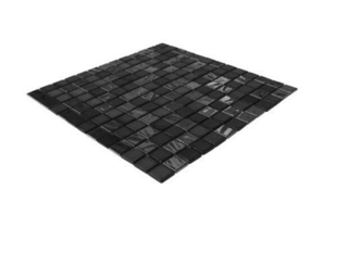 Emaux de verre de 2,5x2,5cm pour mur et piscine STONE GLASS sur trame de 31,1x31,1cm coloris opalo negro - Gedimat.fr