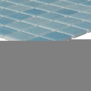 Emaux de verre de 2,5x2,5cm antidérapant NIEVE sur trame de 31,1x31,1cm coloris azul turquesa - Gedimat.fr