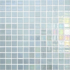 Emaux de verre de 2,5x2,5cm antidérapant OPALO sur trame de 31,1x31,1cm coloris blanco - Gedimat.fr
