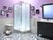 Cabine de douche rectangulaire non hydro EDEN KINEDO portes coulissantes haut.2,21m larg.80cm long.100cm chromé - Gedimat.fr
