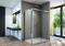 Porte coulissante 2 volets droite LINEA long.120cm verre transparent - Gedimat.fr