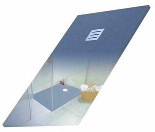 Receveur rectangulaire à poser QUARTZ résine polyester haut.3cm larg.80cm long.1,20m noir - Gedimat.fr