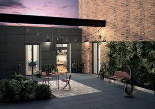 Carrelage pour sol extérieur grès cérame émaillé coloré dans la masse NYC 60cm x 60cm Ép.20mm Coloris nolita - Gedimat.fr
