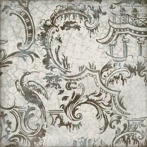 Décor ORNAMENTA pour mur en faïence brillante MAIOLICA dim.20x20cm coloris grigio - Gedimat.fr