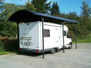 Carport simple en aluminium toit arrondi long.3,59m larg.7,62m - Gedimat.fr