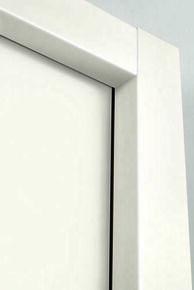 Kit d'habillage intégral MDF prépeint blanc pour châssis simple Doortech de largeur 60 à 90cm - 203x100cm - Gedimat.fr