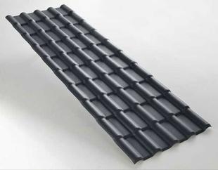 Panneau tuile PVC 218 x 74 cm ép.2,3 mm gris anthracite - Gedimat.fr