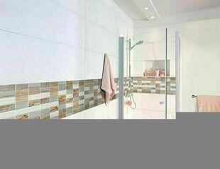 Carrelage pour mur en faïence mate RELIEF Long.100cm larg.33,3cm Coloris blanc - Gedimat.fr
