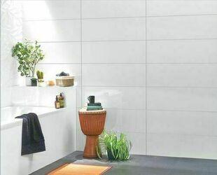 Carrelage pour mur en faïence brillante rectifiée BlancHE Coloris Blanc Long.90cm larg.30cm Ép.10,50mm - Gedimat.fr
