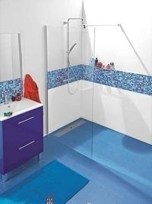 Paroi de douche fixe ALLURE Long.120cm Haut.2,00m effet chromé verre transparent - Gedimat.fr