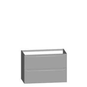 Meuble à poser ou à suspendre long. 90cm haut. 60.8cm prof.45.3cm SUCCES Blanc Brillant - Gedimat.fr