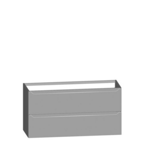 Meuble à poser ou à suspendre SUCCES long.120cm haut.60,8cm prof.45,3cm + simple vasque 2 trous Blanc Brillant - Gedimat.fr