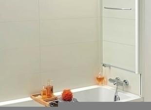 Ecran de baignoire relevable AQUALIFT KINEDO1 volet haut.140cm larg.80cm Verre transparent - Gedimat.fr