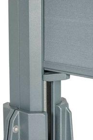 Cale de réglage pour lame composite co-extrudée clôture Claustra. Kit de 2 cales - Gedimat.fr