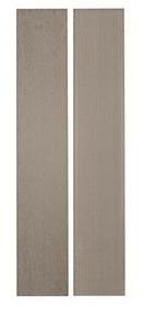 Lame de terrasse Composite SAMBA Ép.20,5mm Larg. 150mm Long.3,90m  Coloris gris cendré - Gedimat.fr