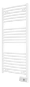 Radiateur sèche serviettes GORELI DIGITAL Blanc 500W Long.50cm Haut.113cm Ép.8 cm - Gedimat.fr