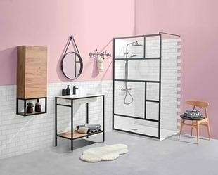 Meuble de salle de bains à poser ARCHI Long.80cm Haut.86cm Prof.45cm Coloris noir - Gedimat.fr