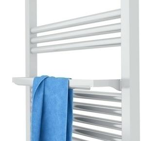 Radiateur sèche-serviettes MARAPI Long.50cm H.108cm Ép.13cm coloris Blanc 500W SAUTER - Gedimat.fr