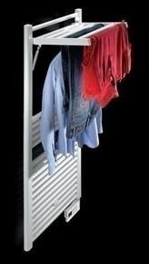 Radiateur sèche-serviettes STENDINO Long.50cm Haut.117,4cm Ép.8 (Fermé) Ép.40 (Ouvert) cm coloris Blanc 500W - Gedimat.fr