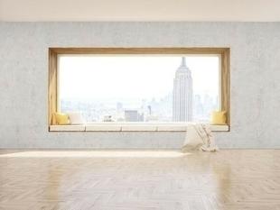 Revêtement mural ELEMENT 3D PREMIUM lames ép.6mm larg.500mm long.2600mm Béton blanc NYC - Gedimat.fr