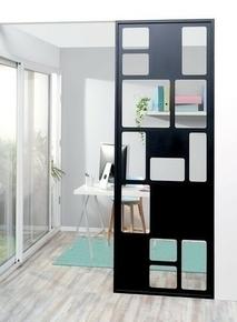 Cloison acier noir ép.25mm larg.880mm haut.2430mm décor cubiste - Gedimat.fr