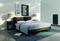 Panneau rayonnant életronique EDISON modèle Vertical Long.45cm Haut.100cm Ép.11,8cm 1500W Gris - Gedimat.fr