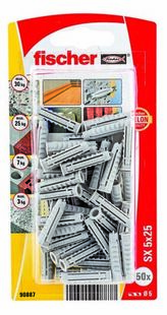Cheville nylon SX NV+collerette  - 5x25mm - blister de 50 pièces - Gedimat.fr