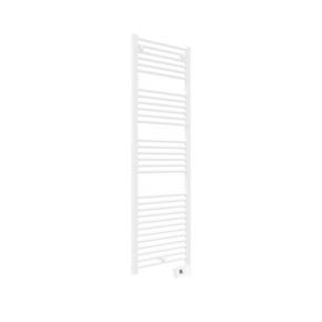 Radiateur sèche-serviettes FLUIDE DROIT DUO Long.50cm Haut.1625cm Prof.8cm coloris Blanc 750W - Gedimat.fr