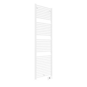 Radiateur sèche-serviettes FLUIDE DROIT DUO Long.55cm Haut.187cm x Prof.8cm coloris Blanc 1000W - Gedimat.fr