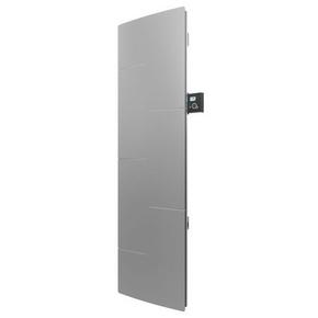 Radiateur MALAO Vertical à inertie fonte + façade chauffante Long.115,3cm Haut.60,7cm Ép.14,5 mm coloris Gris acier 2000W - Gedimat.fr