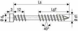 Vis terrasse tête cylindrique bonus A2 - 5x60mm - boîte de 500 pièces - Gedimat.fr