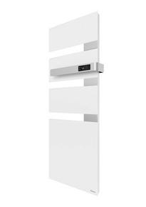 Radiateur sèche-serviettes ALUTU mat droite coloris Blanc 1750W SAUTER - Gedimat.fr