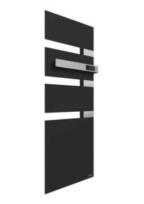 Radiateur sèche-serviettes ALUTU mat droite coloris Anthracite 1750W SAUTER - Gedimat.fr