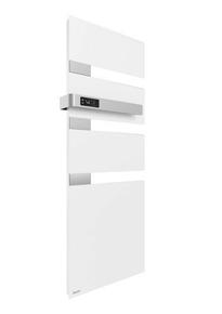 Radiateur sèche-serviettes ALUTU mat gauche coloris Blanc 750W SAUTER - Gedimat.fr