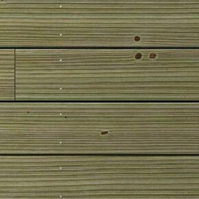 Lame de terrasse Pin Sylvestre Classe 4 traitement autoclave vert ép. 27mm larg.145mm long.3m - Gedimat.fr