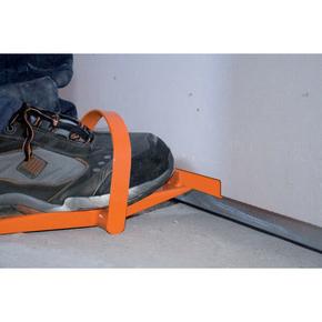 Levier à plaque avec étrier en acier FOOTPLAC - Gedimat.fr