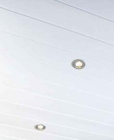 Lambris PVC SPECIAL GRANDE LONGUEUR 2 FRISES EXATOP BLANC ép.8 mm Larg.375m Long.4m Blanc brut - Gedimat.fr